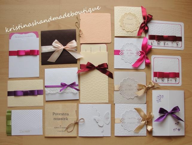 Invitatii de nunta handmade - poza de grup :)