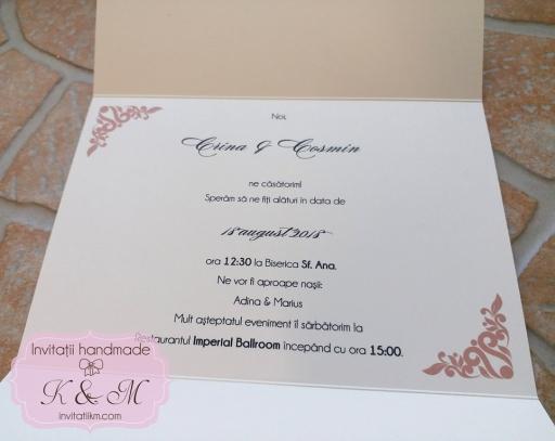 Invitatii K & M (150)