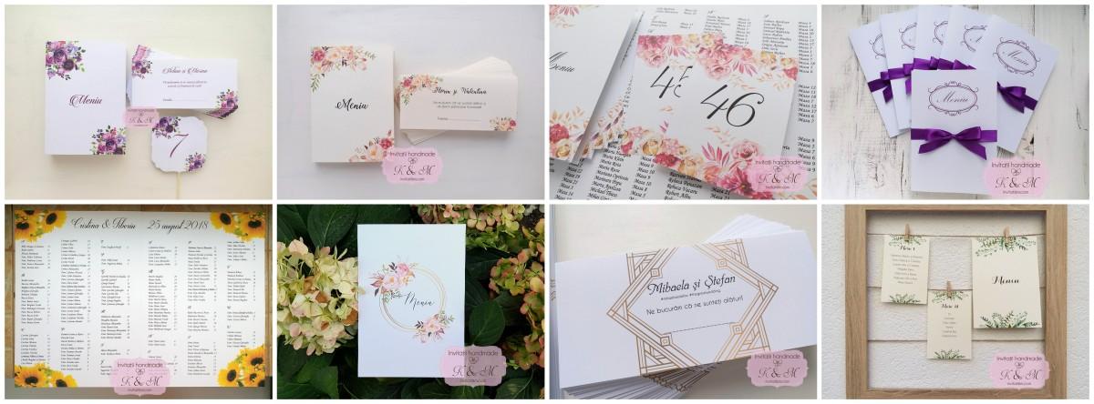 Plicuri de bani si meniuri pentru nunta cu flori